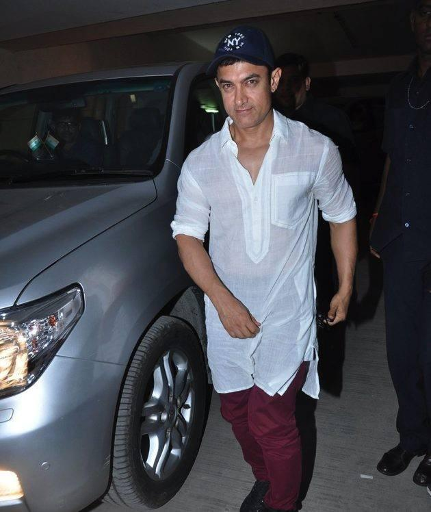 Aamir Khan Snapped At Screening Of The Hollywood Movie Star Trek-Into Darkness