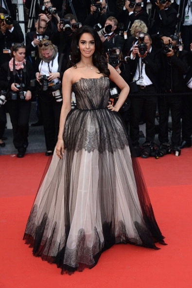 Mallika Sherawat Looks Ravishing At 66th Cannes Film Festival  In A Dolce And Gabbana Gown