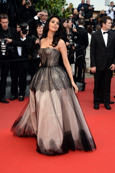 Mallika Sherawat On The Red Carpet In A Strapless Dolce And Gabbana Gown At Cannes Day 4
