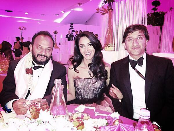 Mallika Latest Still With Directors Amit Kumar And Asif Kapadia At Cannes