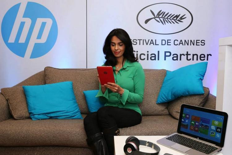 Mallika Sherawat With HP Brand Tab At Variety Studio Portrait Session