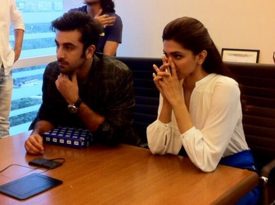 Ranbir And Deepika Spotted Together Promoting YJHD At HT Cafe