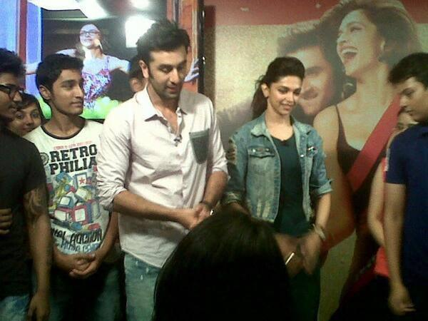 Ranbir And Deepika Spotted On Times Now Event For Promoting YJHD