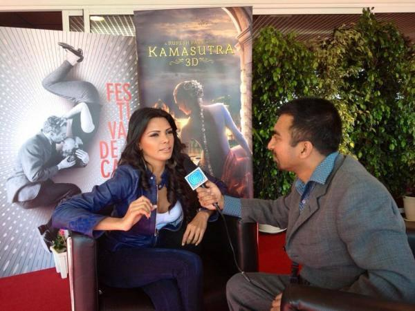 Sherlyn Promoting Her Upcoming Movie Kamasutra 3D At 66th Cannes Film Festival 2013