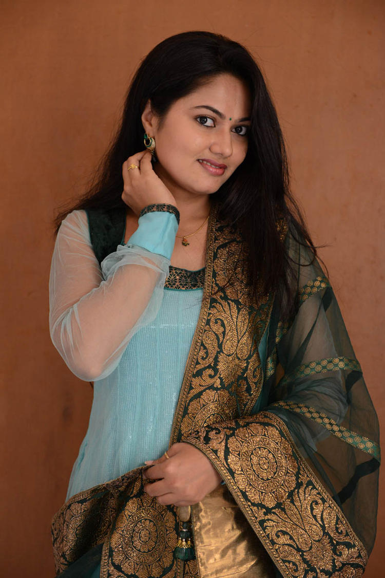 Suhasini In Chudidar Dress Glamour Look At Rough Movie Logo Launch Event