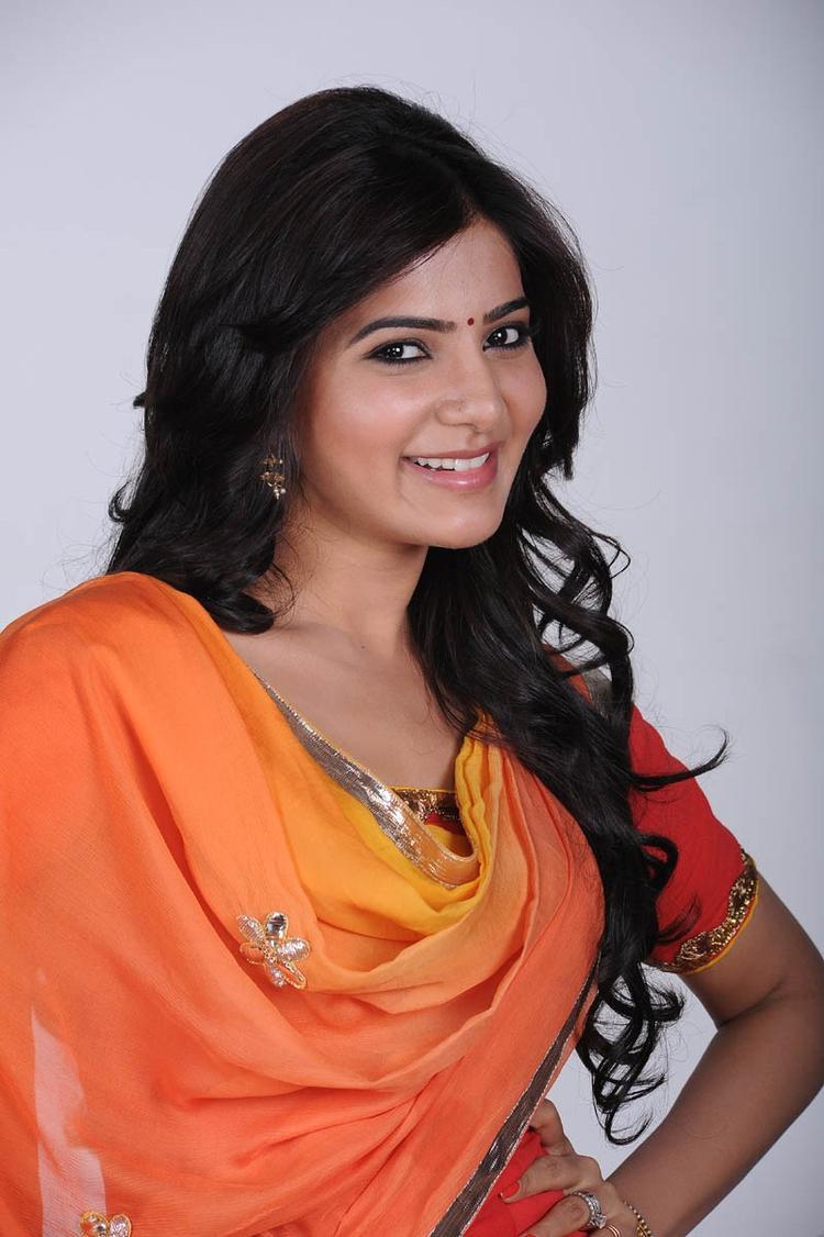 Samantha Ruth Prabhu Cute Sweet Smiling Pose Still
