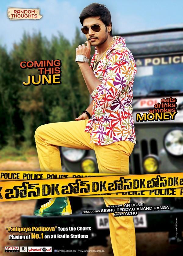 Sundeep Kishan DK Bose Movie Stylist Look Poster