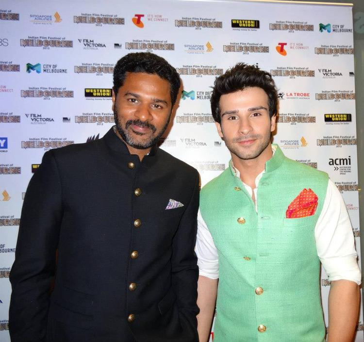 Prabhu And Girish Posed For Camera At Indian Film Festival 2013 Opening In Melbourne