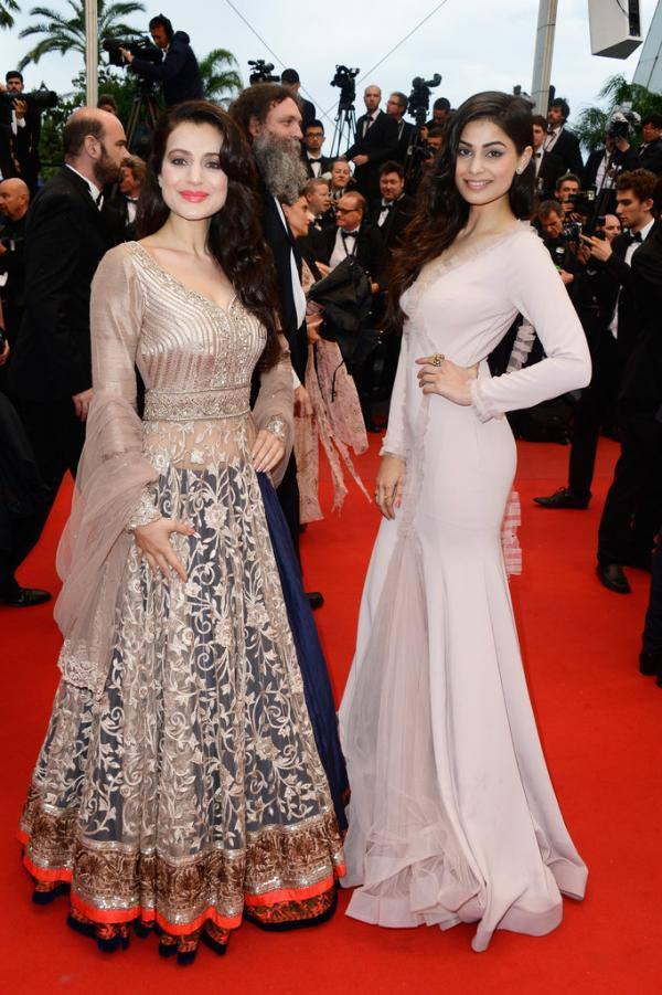 Ameesha Patel And Puja Gupta At The Cannes Screening Of  All Is Lost