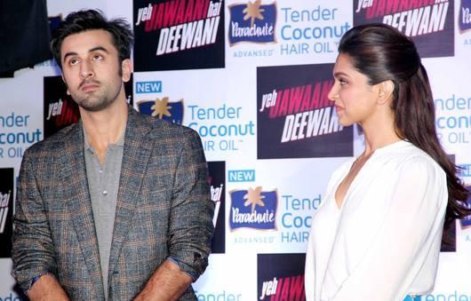 Ranbir And Deepika Promote Their Upcoming Movie YJHD At A Parachute Press Conference