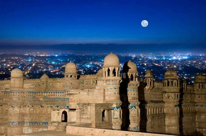 Gwalior Fort Is In The Central Indian State Of Madhya Pradesh