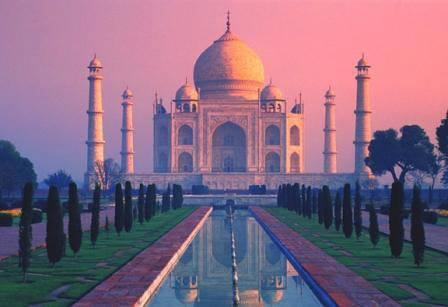 The Taj Mahal Is A white Marble Mausoleum Located In Agra