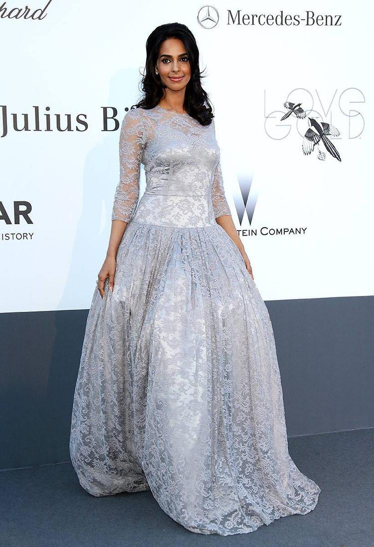 Mallika Sherawat Charming Face Look Still At Cannes AmfAR Gala