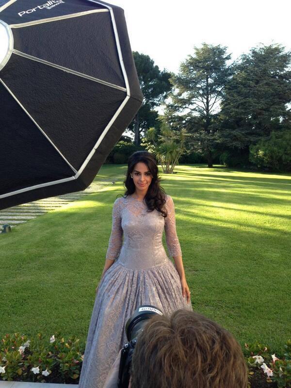 Mallika Sherawat Pose For Photo Shoot During The Cannes AmfAR Gala