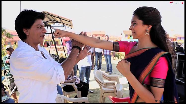 Shahrukh Fight With Deepika At The Last Day Of Chennai Express