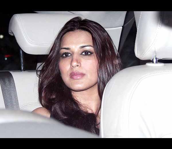 Glamour Sonali Bendre Snapped At Film Director Karan Johar's Birthday Party
