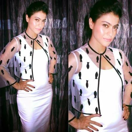 Kajol Looking Fabulous In Nikhil Thampi At Karan Johar's Birthday Party
