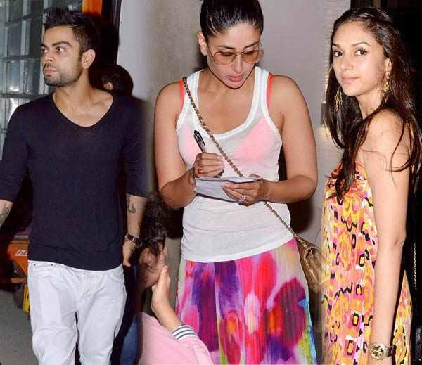 Virat,Aditi And Kareena Attend Kunal Khemu Birthday Bash