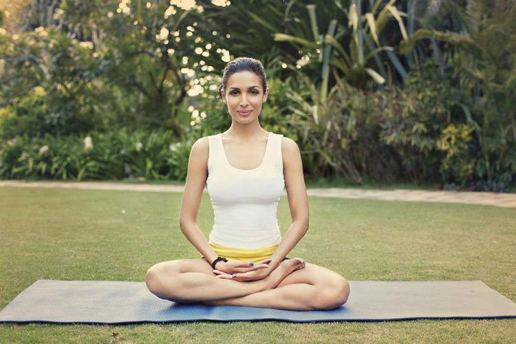 Malaika Yoga Pose Photo Shoot For The Closet Label Online Shopping Website