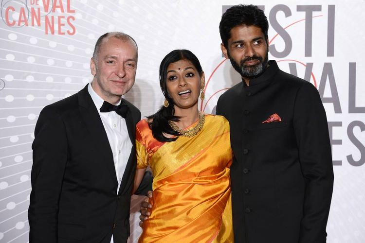Nandita With Hubby Subodh Clicked At The Palme D'Or Winners Dinner During 66th Cannes 2013