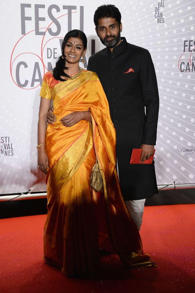 Nandita With Hubby Subodh Posed In Red Carpet At The Palme D'Or Winners Dinner In Cannes 2013
