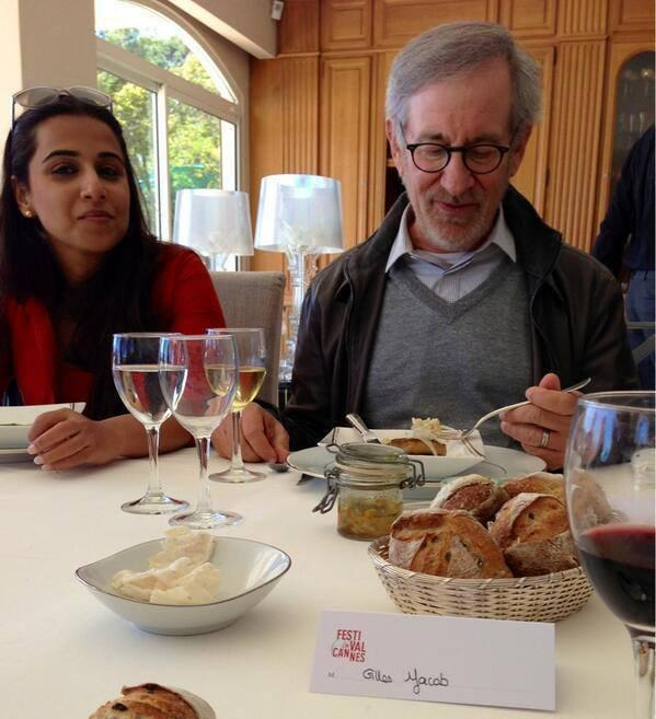 Vidya Balan On The Dining Table During The Journey Of Cannes 2013