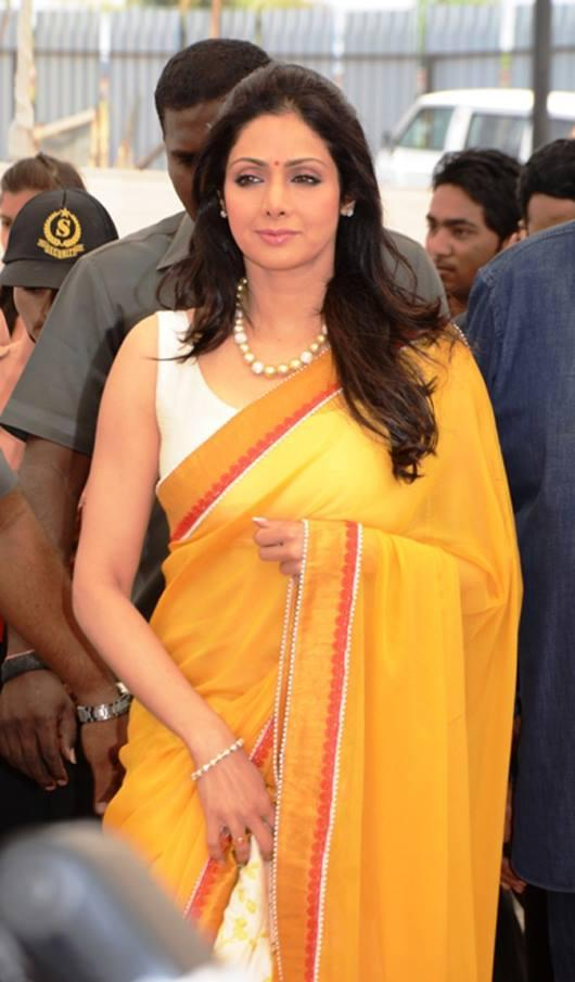Sridevi Gorgeous In Yellow Saree At Retail Property Maitreya Greens Housing Project Launching Event In Nasik