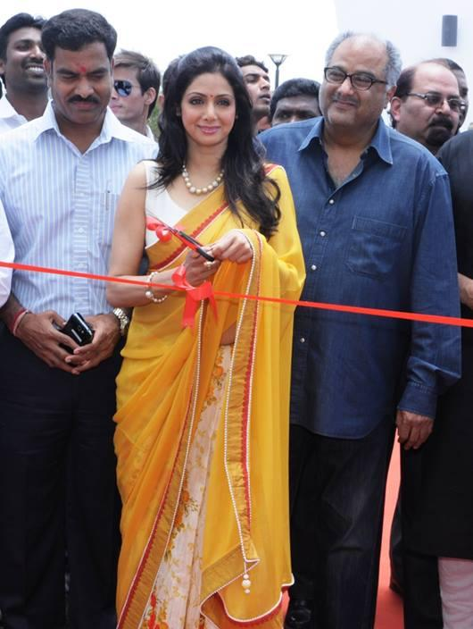 Sridevi Inaugurates And Hubby Boney Looks On At Retail Property Maitreya Greens Housing Project Launching Event In Nasik On 26 May, 2013