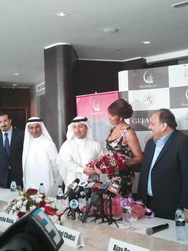 Bipasha Basu And Mehul Choksi In Dubai To Launch Gili Jewellery
