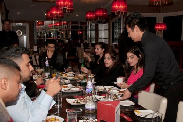 Ameesha And Puja With Other's At CHAK 89 Restaurant For Shortcut Romeo Promotion