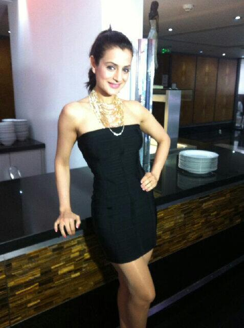 Ameesha Hot Photo Shoot In CHAK 89 Spice Restaurant In London For Shortcut Romeo Promotion