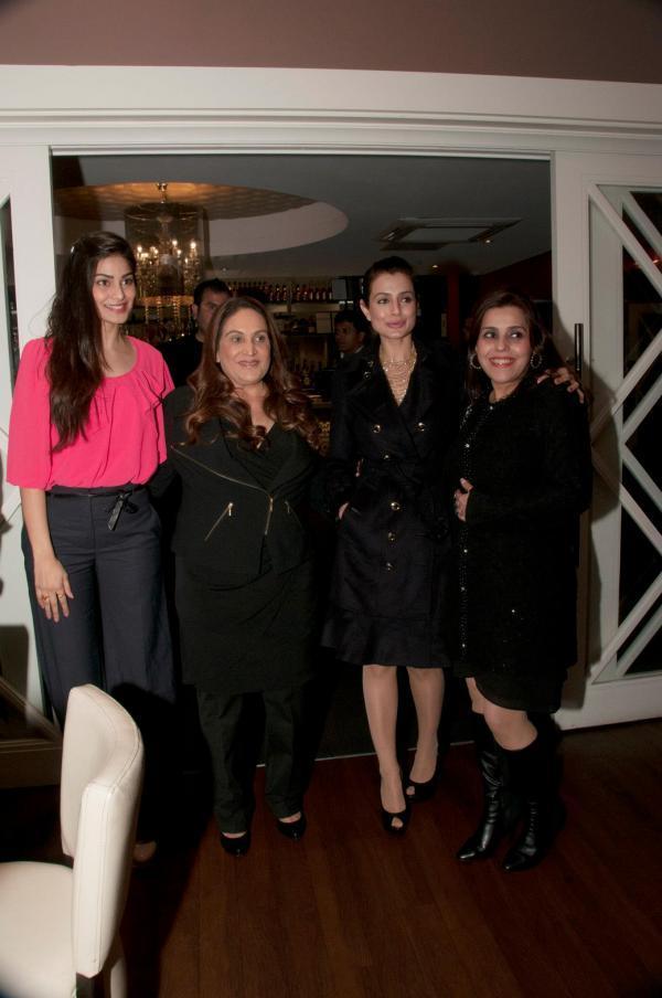 Ameesha Patel And Puja Gupta At CHAK 89 Restaurant For Shortcut Romeo Promotion
