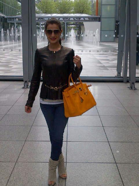 Ameesha Patel Snapped At London For Her Upcoming Flick Shortcut Romeo Promotion