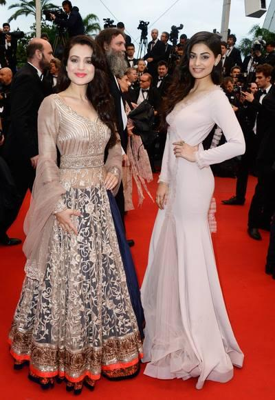 Ameesha Patel And Puja Gupta At The Cannes Screening Of All Is Lost'