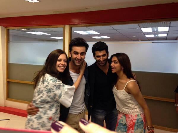 Kalki,Ranbir,Aditya And Deepika Clicked At YJHD Promotion In Delhi