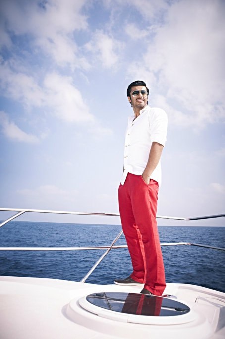 Arjun Kapoor Stunning Hot Photo Shoot On Sea For Asia Spa