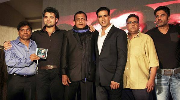 Akshay,Suneil,Mithun,Mahaakshay And Johnny At Music Launch Of Enemmy