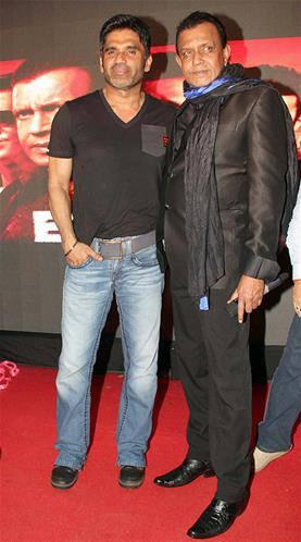 Mithun And Sunil Shetty Pose During Music Launch Event Of Enemmy