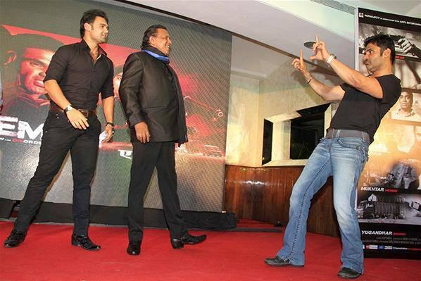 Mithun Chakraborty,Mahaakshay And Sunel Shows Off Their Dance Moves At Enemmy Music Launch Event