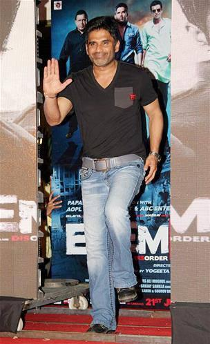 Sunil Shetty Dance Pic At Enemmy Movie Music Launch