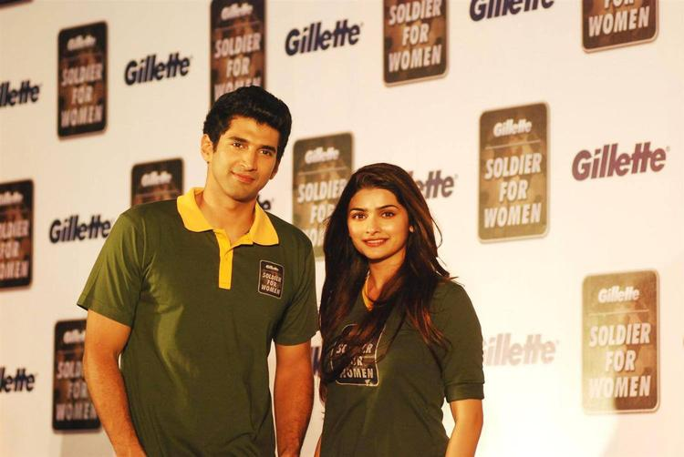 Aditya And Prachi During The Launch Of Soldier For Women By Gillette