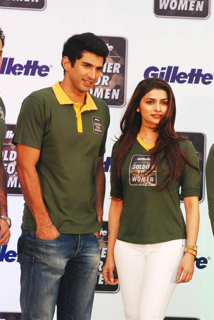 Aditya And Prachi At The Launch Of  Soldier For Women By Gillette