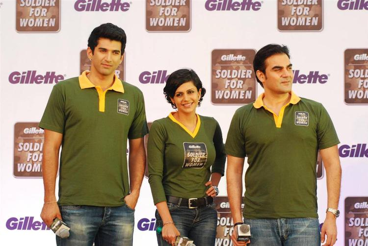 Aditya,Mandira And Arbaaz Launch The Soldier For Women By Gillette