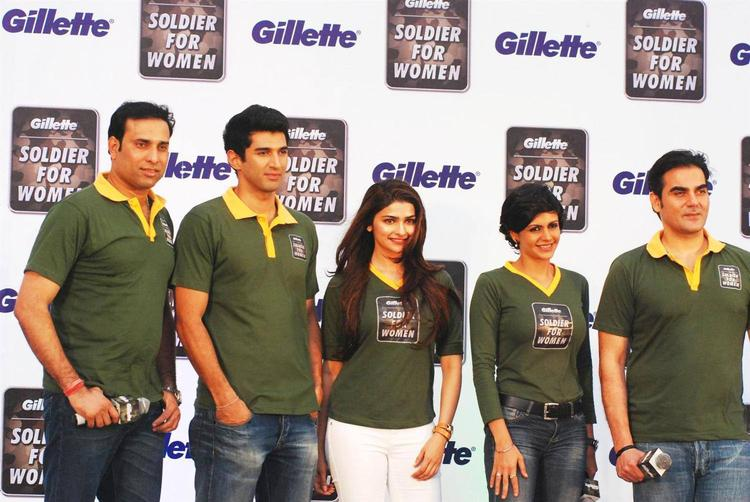 Aditya,Prachi,Arbaaz And Mandira Attended An Event Of The Gillette's Soldier For Women Campaign