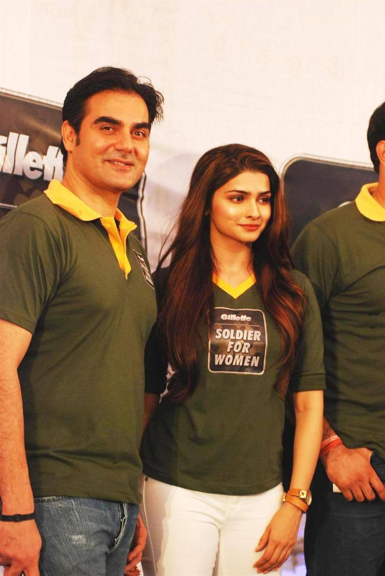 Arbaaz And Prachi Stunning Look At The Launch Of Soldier For Woman By Gillette
