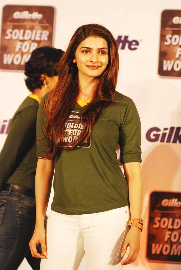 Bollywood Actress Prachi Desai Dazzling Poses During The Function Organised By Gillette Soldier For Women Campaign