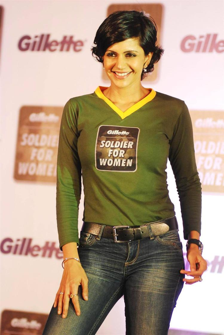 Mandira Bedi Poses During The Launch Of Soldier For Women By Gillette