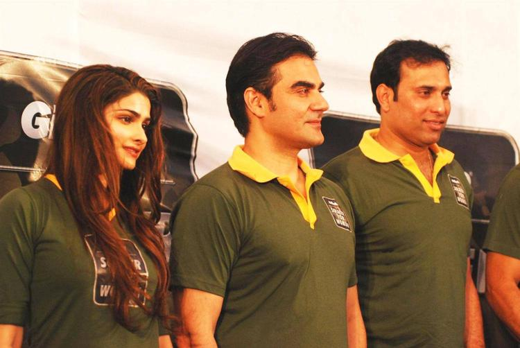 Prachi And Arbaaz Poses During The Function Organised By Gillette Soldier For Women Campaign