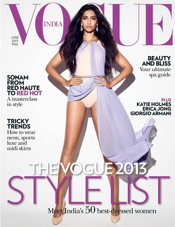 Sonam On The Cover Of Vogue India June 2013