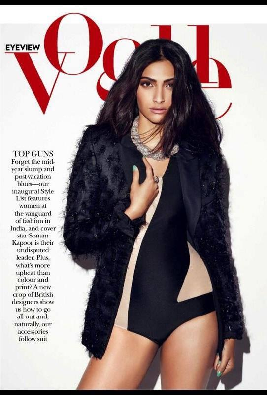 Sonam Kapoor Latest Glamour Still On The Cover Of Vogue June Issue
